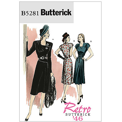 Butterick Pattern Misses' Dress and Belt, AA (6, 8, 10, 12)