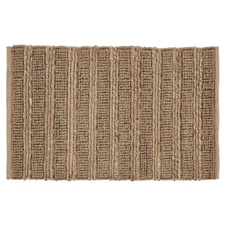 Natural Tan Farmhouse Flooring Laila Jute Jute Rectangle Accent Rug ()