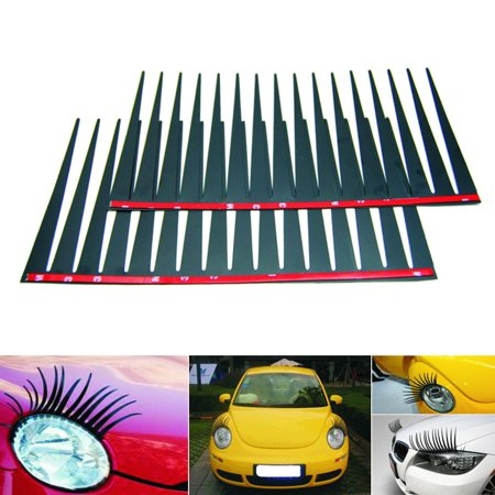 2pcs Set Cute Car Eyelashes Decal Car Sticker For Car Headlights