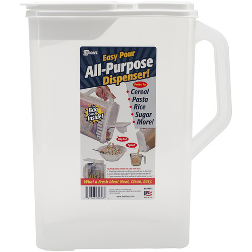 "Buddeez 8qt Bag-In All-Purpose Dispenser with Handle, 13.5"" x 9.75"" x 5.375"""