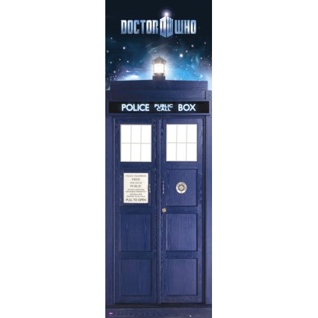 Doctor Who   Tv Show Door Poster   Print  The Tardis   Time Vortex   Dr  Who   Size  21  X 62