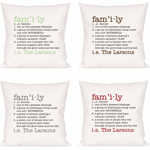 Personalized Definition of a Family Pillow