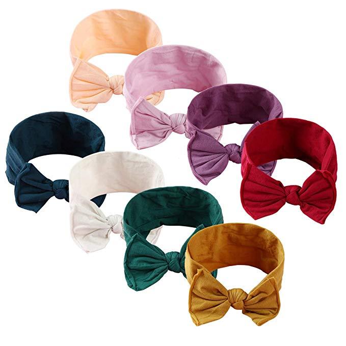 Baby Girl Bulk Headbands ~ Nylon Headbands ~ Baby Hair Bows ~Infant Headband ~Newborn Headband ~Baby Girl Headband ~ Baby Bows-Trending Now