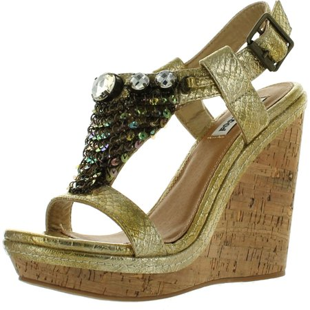 Not Rated Women's Walk To Moon Goddess, Gold, 9.5 (Best Rated Women's Walking Shoes)