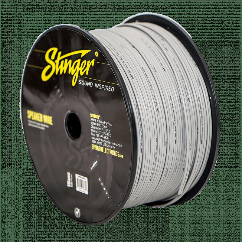 Stinger SPW516WH - 16GA PRO SPEAKER WIRE: WHITE - 500 FT.