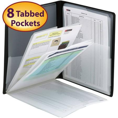 Smead Organized Up® Multi Pocket Organizer, Eight Pockets, Letter Size, Black (Multi Pocket)