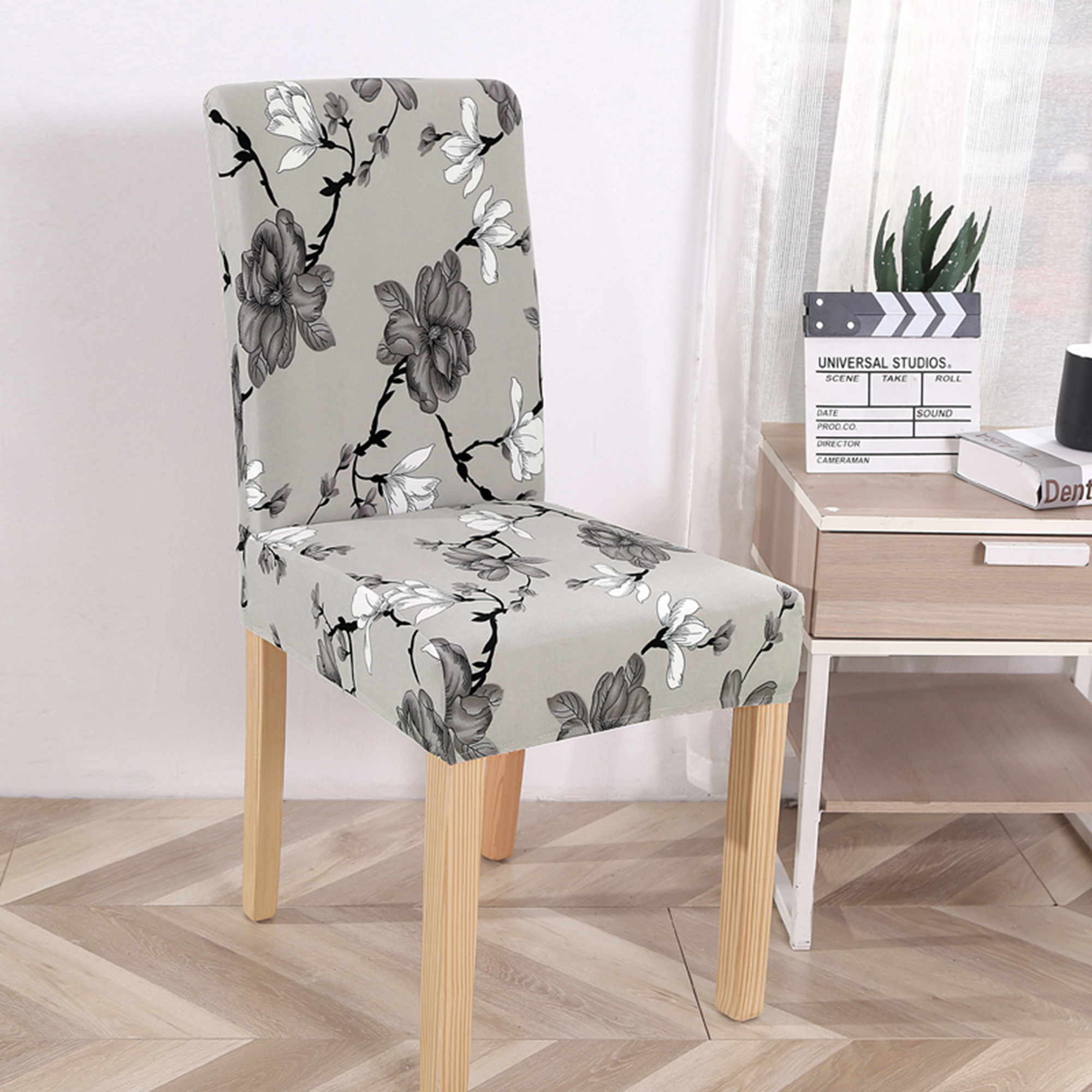 Stretch Dining Chair Covers Slipcovers Wedding Home Decor Seat Covers 1//2//4PCS