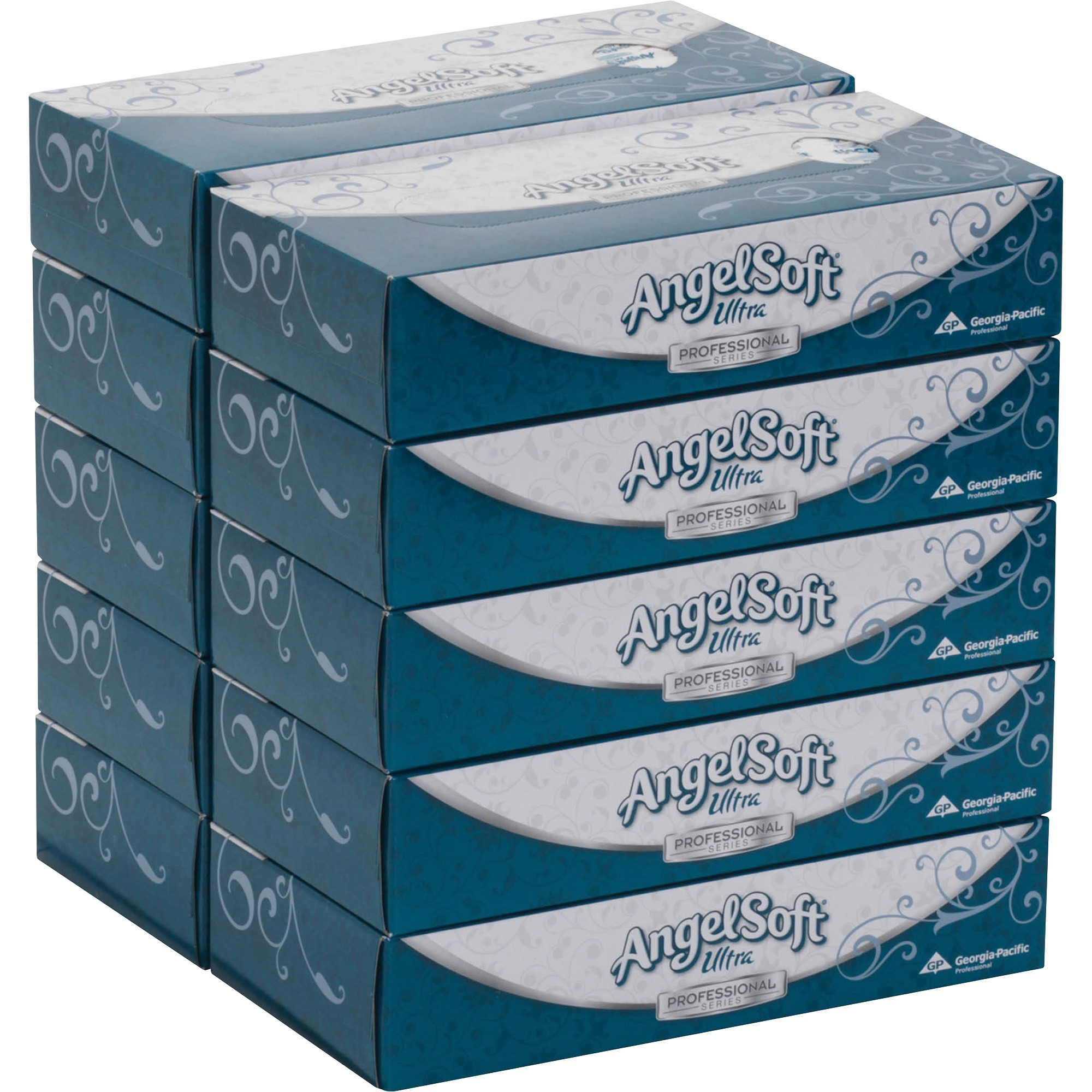 Angel Soft Ultra Professional Series, GPC4836014, Facial Tissue in Flat Box, 10 / Carton, White