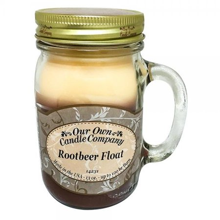 Our Own Candle Company Root Beer Float Scented 13 Ounce Mason Jar Candle