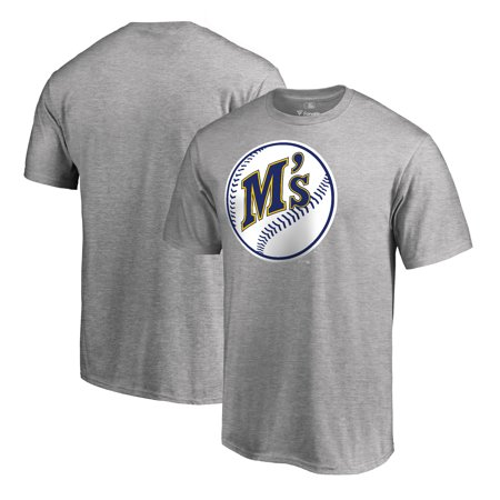 Seattle Mariners Fanatics Branded Cooperstown Collection Huntington T-Shirt - Ash