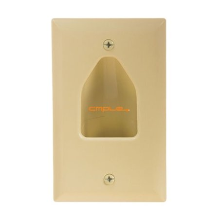 Cmple Wall Plate - 1-Gang Recessed Low Voltage Cable - Lite Almond Da Lite Low Voltage Switch