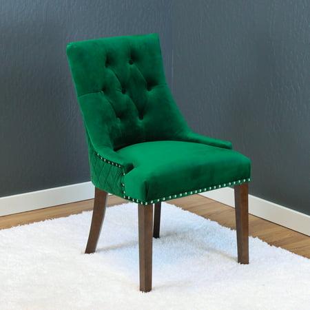 Lemele Emerald Green Velvet Dining Chairs Set Of 2