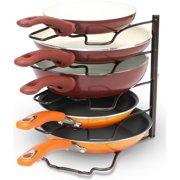 DecoBros Kitchen Counter and Cabinet Pan Organizer Shelf Rack  Bronze