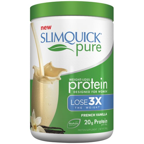 Slimquick Pure French Vanilla Weight-Loss Protein Supplement, 300g