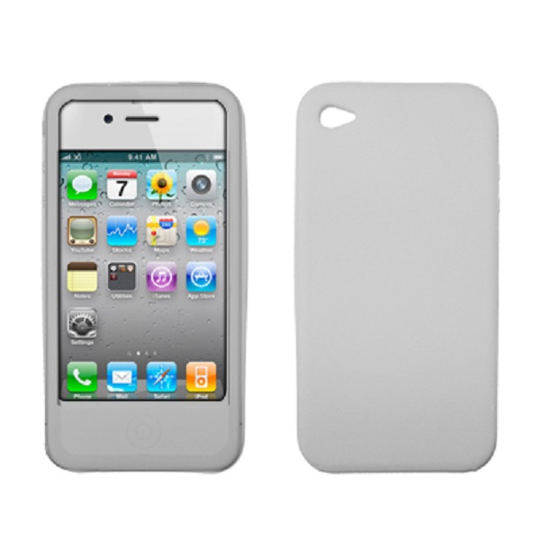 Premium Clear Silicone Gel Skin Cover Case for AT&T Apple iPhone 4 [Accessory Export Brand Packaging]