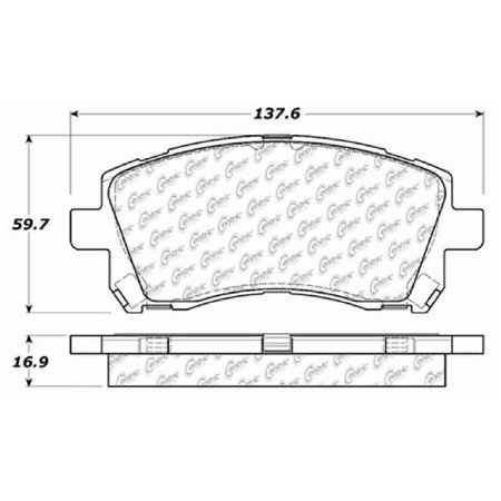 Go-Parts » 1997-2002 Subaru Legacy Front Disc Brake Pad