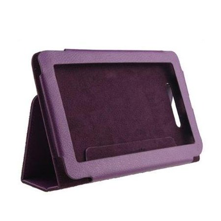 Agptek Full Screen Touchable Leather Cover Purple Case With Stand For Barnes And Noble Nook Tablet Nook Color