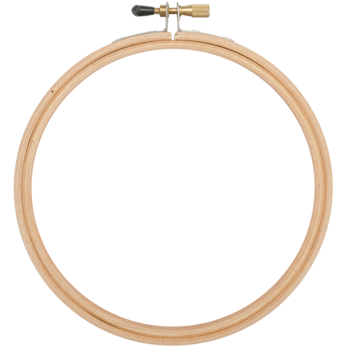 """Frank A. Edmunds Wood Embroidery Hoop W/Round Edges 6""""-Natural"""