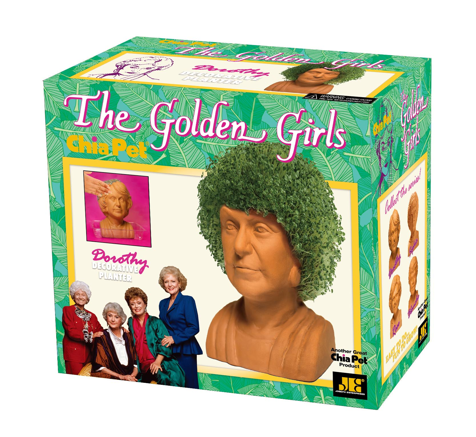 """Chia Pet """"Golden Girls"""" Collection - """"Dorothy"""" - Decorative Planter"""