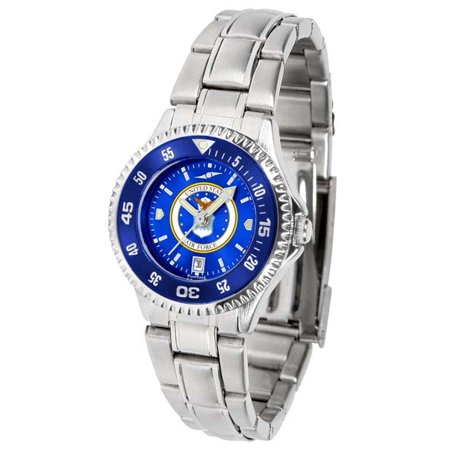 US Air Force Women's Competitor Steel AnoChrome Watch - Color Bezel Anochrome Ladies Steel Watch