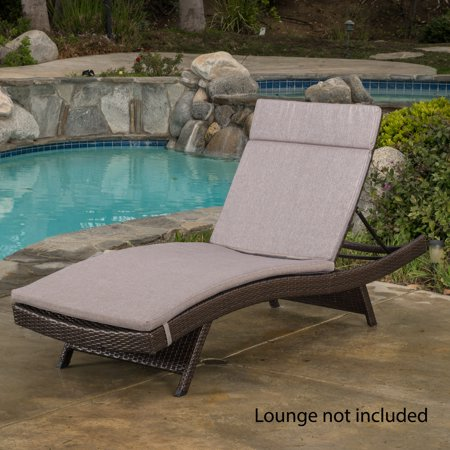 Anthony Outdoor Chaise Lounge Cushion Charcoal