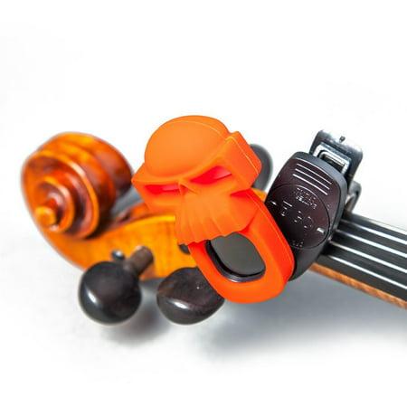 SWIFF Digital Chromatic Guitar Bass Violin Ukulele Carton Tuner w Battery (Orange Skull)