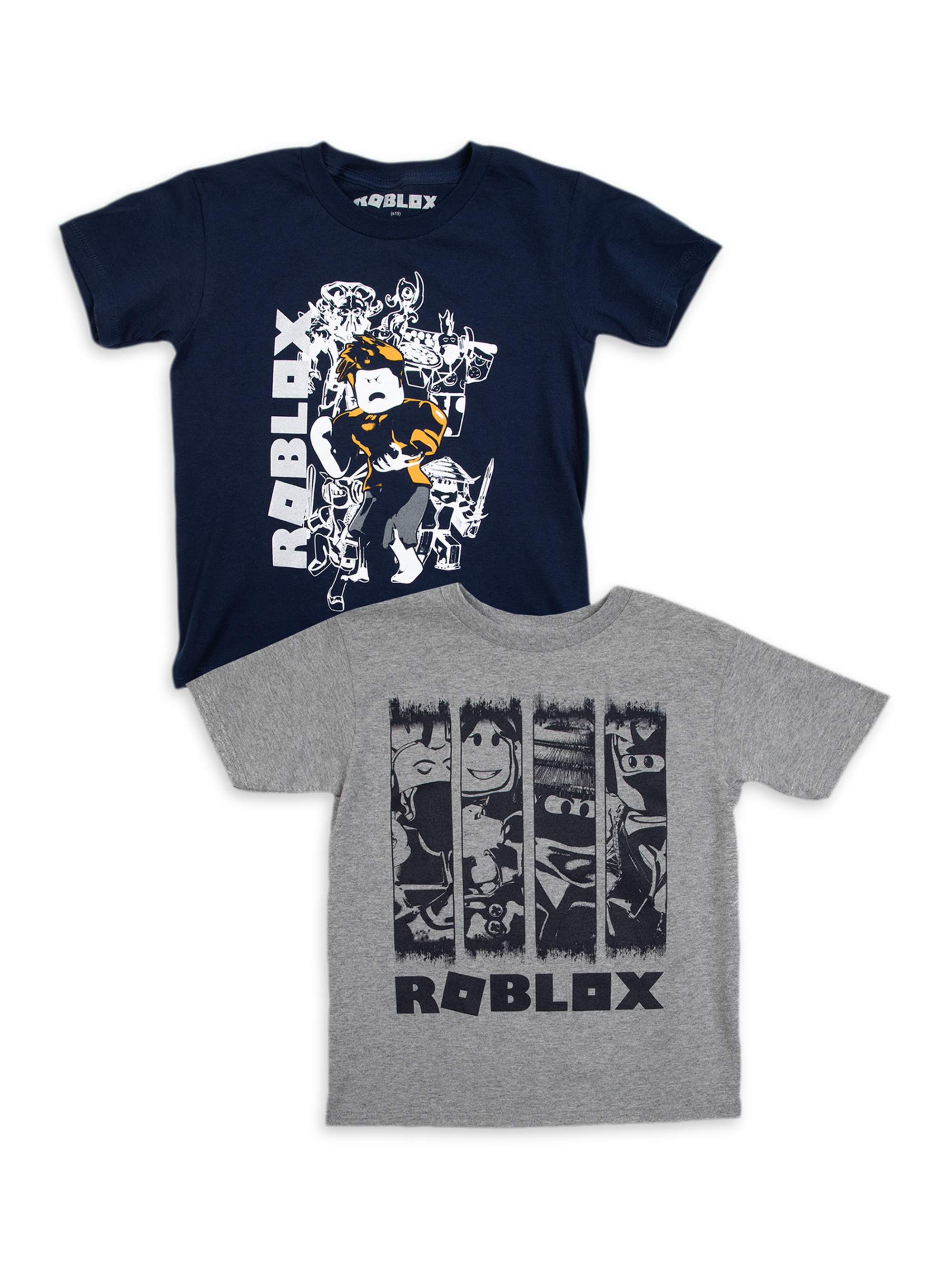 Roblox Roblox Boys 4 18 Action Panel Graphic T Shirts 2 Pack