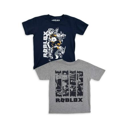 Roblox Roblox Boys 4 18 Action Panel Graphic T Shirts 2 Pack Walmart Com Walmart Com