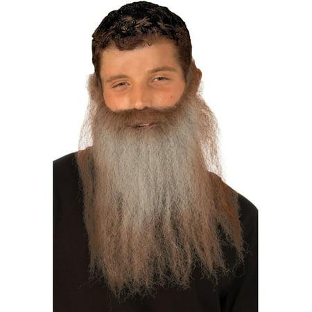 Long Brown Grey Gray Lumberjack Hunter Hunting Costume Moustache & Beard