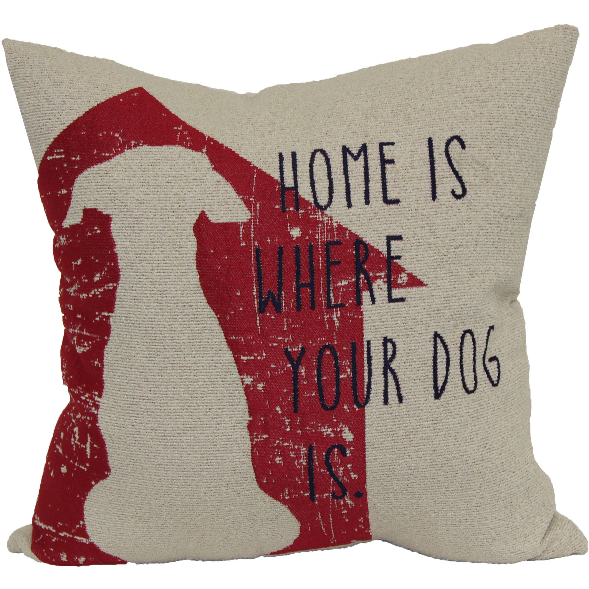 Better Homes and Gardens Decorative Pillow with Dog Words