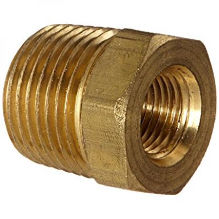 Anderson Metals 56110 Brass Pipe Fitting, Hex Bushing, 3/8 NPT Male Pipe x 1/8 NPT Female Pipe Anderson Metals Bushings