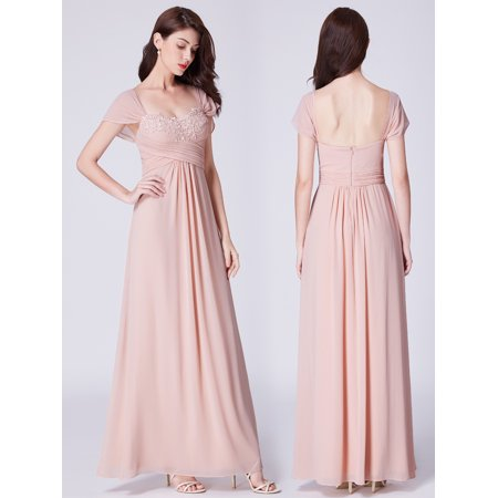027ef0bd5a5a5 Ever-pretty - Ever-Pretty Women's Short Sleeve Long Maxi Prom Ball Gown  Vintage Evening Bridesmaid Dresses for Women 07406 US 8 - Walmart.com