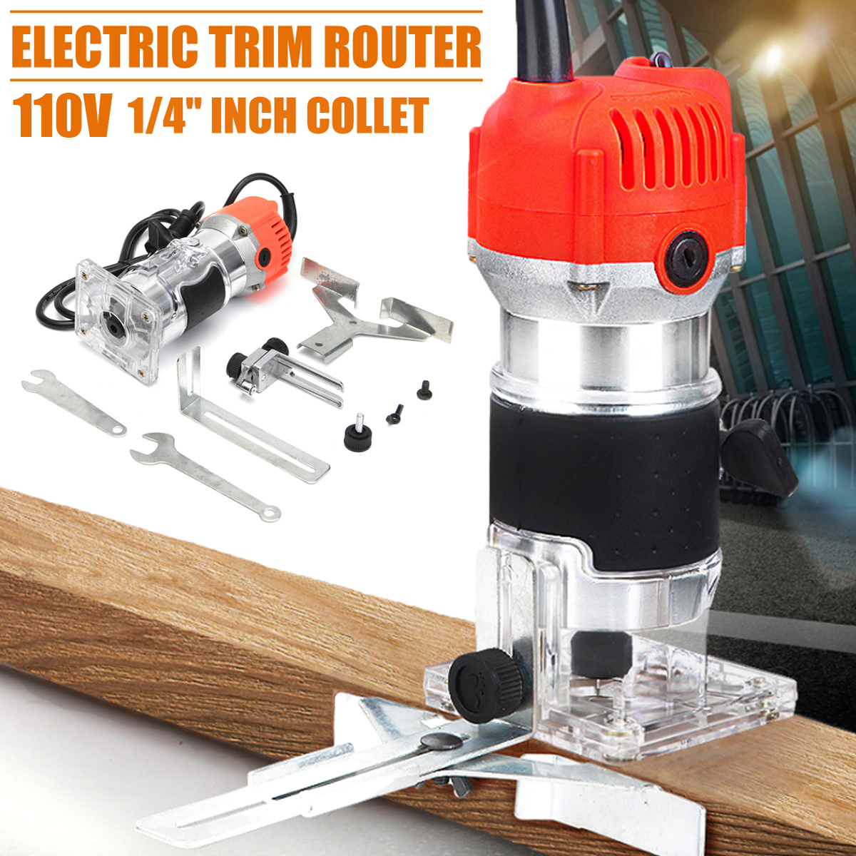 1//4'' Woodworking Trimmer Electric Edge Trimming Machine Wood edge Trimmer Tool