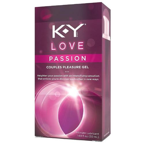 K-Y Love Passion Couples Pleasure Gel Intimate Lubricant 1.69 oz (Pack of 4)
