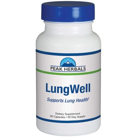 LungWell | Respiratory Support Formula All-Natural Lung Supplement Addresses Age-Related Breathing Issues and Promotes Clean Healthy Lungs for More Energy| Herbal Lung Cleanse |30 Day Supply