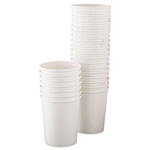 Flexstyle Double Poly Paper Containers, 32oz, White, 25/Pack, 20 Packs/Carton