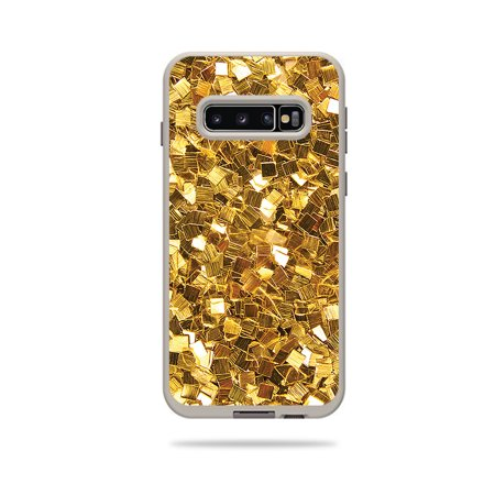 Skin For Lifeproof Fre Case Samsung Galaxy S10 - Gold Chips   MightySkins Protective, Durable, and Unique Vinyl Decal wrap cover   Easy To Apply, Remove, and Change Styles (Rank Samsung Chips)