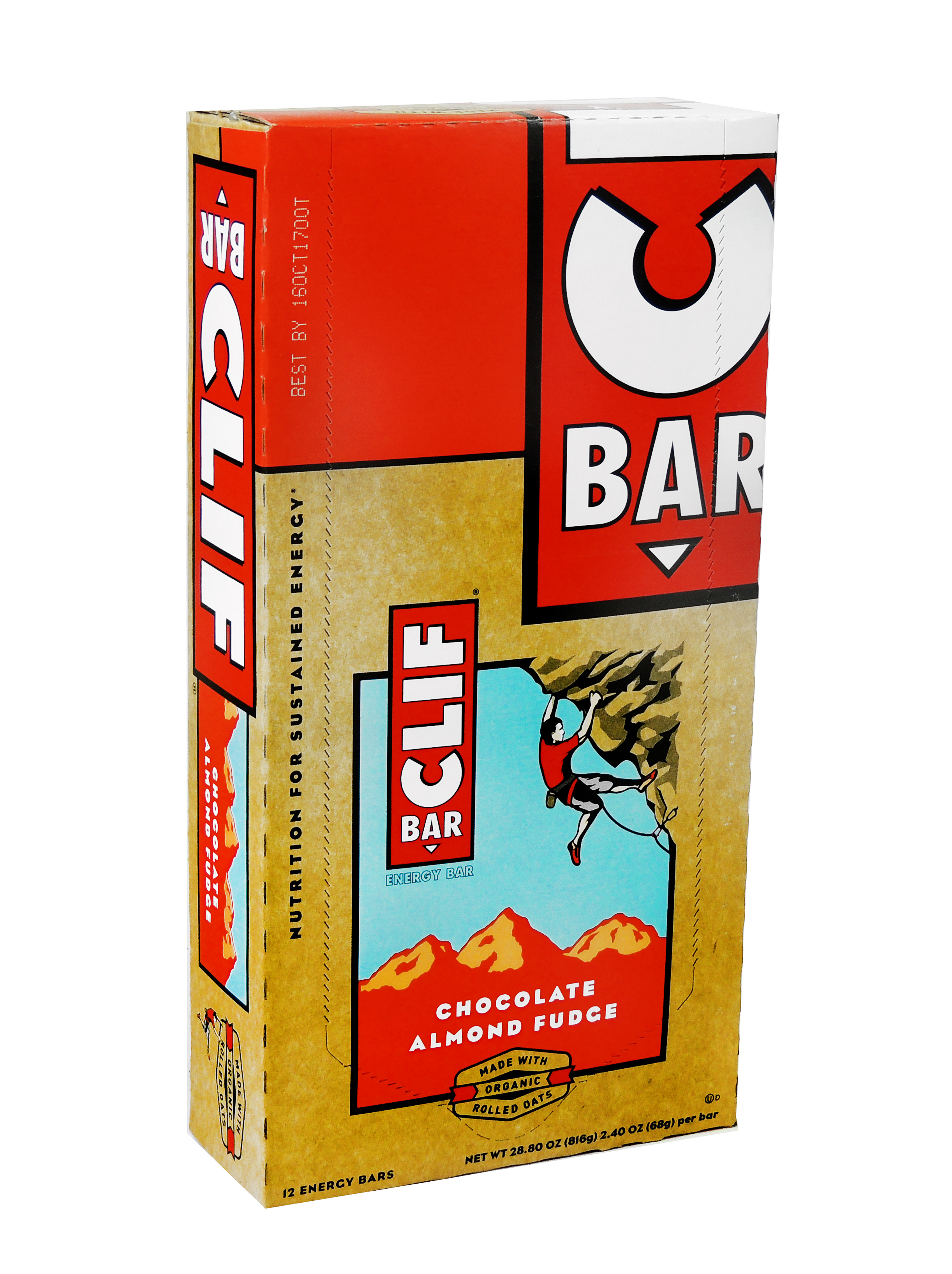 Clif Enrgy Bar Choc Almnd Fudge 12Ct Pack of 12 by Clif