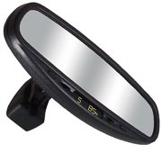 CIPA 36500 Wedge Base Auto Dimming Mirror with Compass, Temperature and Map Lights