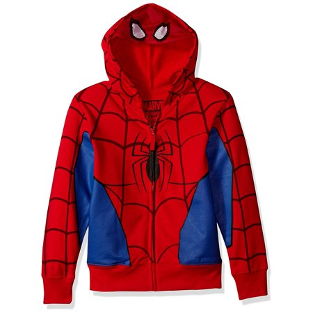 Spider-Man Toddler Boy Mesh Eye Mask Costume Hoodie