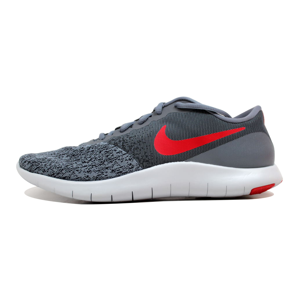 Mens Nike Flex Contact Running Shoe Cool Grey/University Red-Anthracite 9