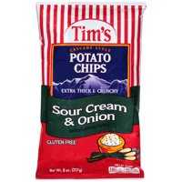 Tims Sour Cream & Onion Potato Chips 8 Oz.