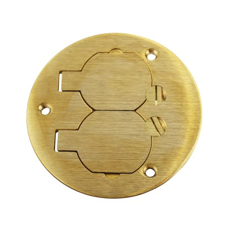 Wiremold Legrand Walker 895TB Brass Tile Duplex Cover Plate Two Screw Plug Openings