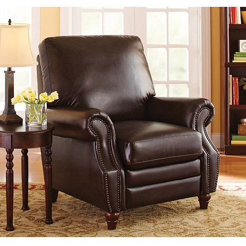 Better Homes and Gardens Nailhead Leather Recliner, Multiple Colors