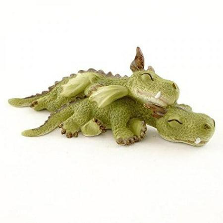 Top Collection Miniature Fairy Garden and Terrarium Mini Dragons Cuddling Figurine](Fairy Garden Terrarium)