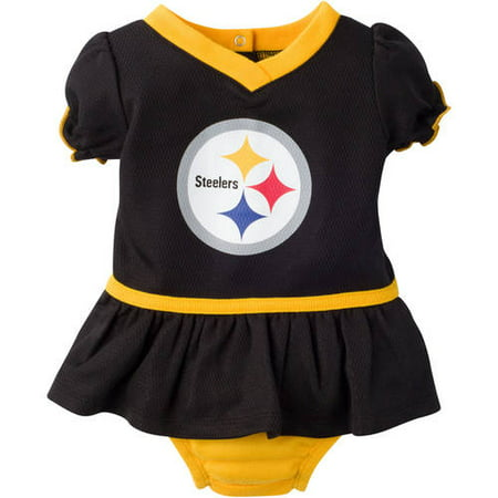 21e1b941 NFL Pittsburgh Steelers Baby Girls Mesh Dazzle Dress and Panty Set, 2-Piece