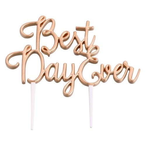 Le Prise Best Day Ever Wedding Cake Topper