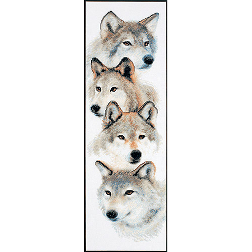 """Janlynn The Pack Counted Cross Stitch Kit, 7"""" x 22"""", 14 Count"""