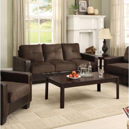Hokku designs townsend microfiber 3 piece living room set for Hokku designs living room furniture