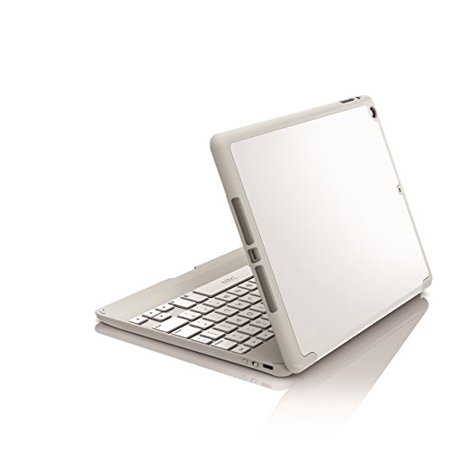 ZAGG Ultra-Slim Folio Case, Hinged Multi-View Bluetooth Keyboard for iPad Air 2 - White ()